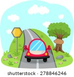 illustration of traveling car... | Shutterstock . vector #278846246