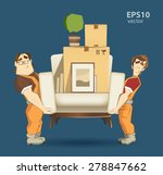 moving service and delivery... | Shutterstock .eps vector #278847662