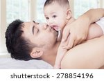 portrait of adorable male baby... | Shutterstock . vector #278854196