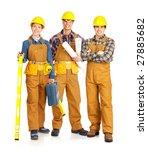 builder people  in yellow... | Shutterstock . vector #27885682