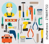 color tools for repair and home ... | Shutterstock .eps vector #278859722