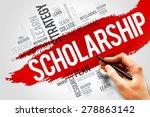 scholarship word cloud ... | Shutterstock . vector #278863142