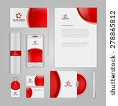 abstract logotype corporate... | Shutterstock .eps vector #278865812