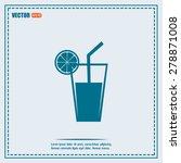 vector glass of juice icons  | Shutterstock .eps vector #278871008