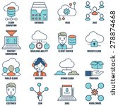 set of flat linear cloud...   Shutterstock .eps vector #278874668