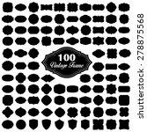 set of 100 blank vintage frame   Shutterstock .eps vector #278875568