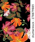 vector seamples flower pattern | Shutterstock .eps vector #278879885