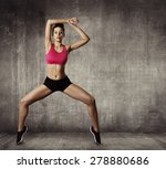 woman fitness gymnastic... | Shutterstock . vector #278880686