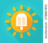 illustration of a sun icon with ... | Shutterstock .eps vector #278887892