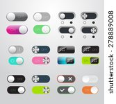 toggle switch icons set. on and ...