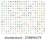 set of vector icons. flat...   Shutterstock .eps vector #278890175