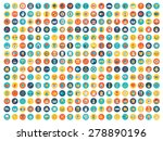 set of vector icons. flat... | Shutterstock .eps vector #278890196