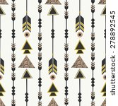seamless pattern with arrows in ... | Shutterstock .eps vector #278892545
