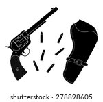 wild west wood handle revolver...