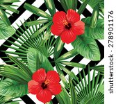 print summer exotic jungle... | Shutterstock .eps vector #278901176