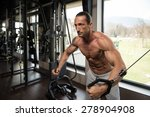 muscular mature man working out ... | Shutterstock . vector #278904908