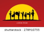 silhouette marching band ... | Shutterstock .eps vector #278910755