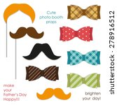 cute photo booth props... | Shutterstock .eps vector #278916512