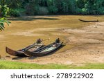 Long Tail Wooden Motorboats In...