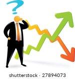 orange head man with black suit ... | Shutterstock .eps vector #27894073