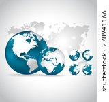 modern globes and world map ... | Shutterstock .eps vector #278941166