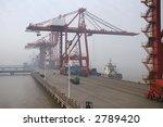shipping port in ningbo  china | Shutterstock . vector #2789420