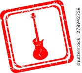 electric guitar icon  red...