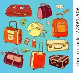 collection of vintage travel... | Shutterstock .eps vector #278945906