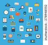 illustration set flat icons of...