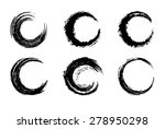 black circular brush stroke  ... | Shutterstock . vector #278950298