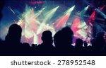cheering crowd in front of... | Shutterstock . vector #278952548