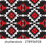 tribal seamless black red white ... | Shutterstock .eps vector #278956928