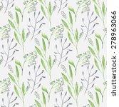watercolor branch flower... | Shutterstock . vector #278963066