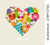 color fruits icon. food sign in ... | Shutterstock . vector #278972702