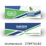 golf cup header   banner design | Shutterstock .eps vector #278976182