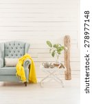 wood wall interior  decor | Shutterstock . vector #278977148