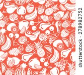 seamless pattern  fruits and... | Shutterstock . vector #278982752