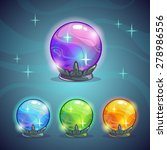 set of magic crystal balls ...