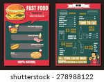 brochure or poster restaurant... | Shutterstock .eps vector #278988122