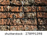 compressed crushed cars. | Shutterstock . vector #278991398