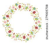 floral vector wreath | Shutterstock .eps vector #279005708