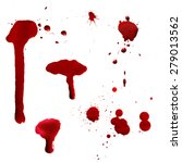 vector red ink stain  blots and ... | Shutterstock .eps vector #279013562