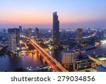 bangkok cityscape  business... | Shutterstock . vector #279034856