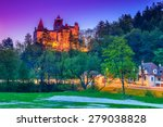 the famous bran castle with... | Shutterstock . vector #279038828