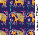 ethnic seamless pattern fabric... | Shutterstock . vector #279044882