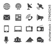 communication icons | Shutterstock .eps vector #279045245