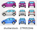 vector suv car   side   front   ... | Shutterstock .eps vector #279052346
