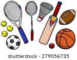 sports equipment illustration | Shutterstock . vector #279056735