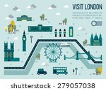illustration of visit london... | Shutterstock .eps vector #279057038
