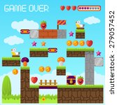 video platform game interface... | Shutterstock .eps vector #279057452